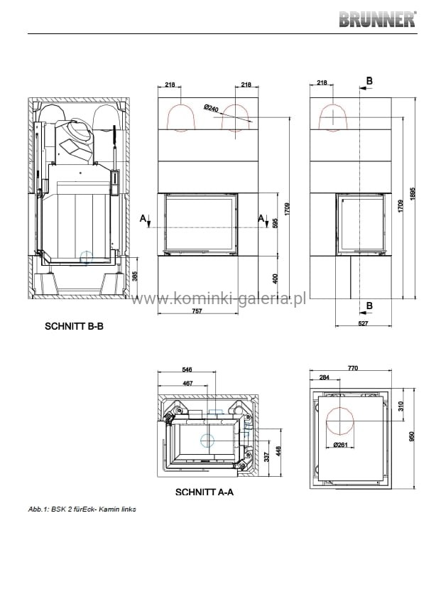 kominek brunner bsk 02 eck z ciep obudow drzwi unoszone lewe sklep z kominkami krak w i. Black Bedroom Furniture Sets. Home Design Ideas